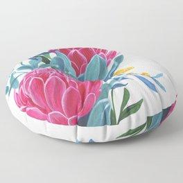 Pink protea Floor Pillow
