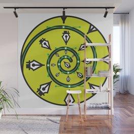 """Pen Tool Hypnosis"" Surviving Art School Badge Wall Mural"