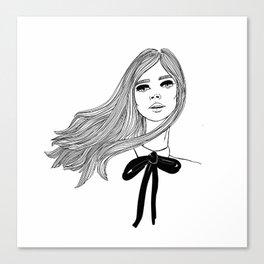 YSL girl Canvas Print