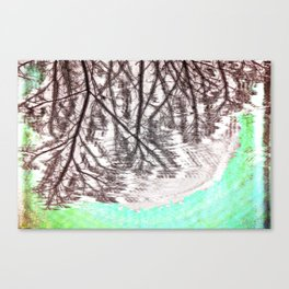 Glitch in the Forest Canvas Print