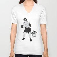 rocky V-neck T-shirts featuring Rocky - Rocky Marciano by V.L4B