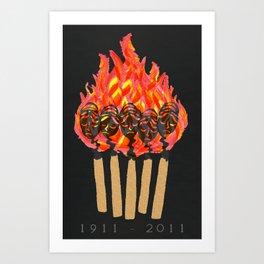 ∆Shirtwaist Fire Art Print