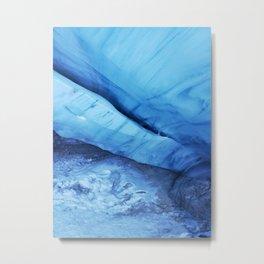 Blue ice of Blackcomb Glacier Ice Cave Metal Print