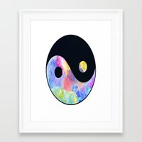 ying yang Framed Art Prints featuring Ying Yang by Johnny Rockets