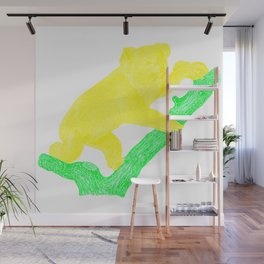 Bright Australian Native Wildlife - Yellow Koala Illustration Wall Mural