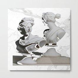 GREEK GODS WHITE MARB Metal Print