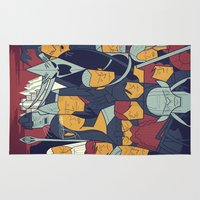 return Area & Throw Rugs featuring The Return of the King by Ale Giorgini