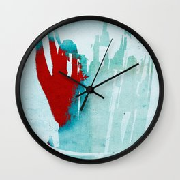 My Red Robot Hand Wall Clock