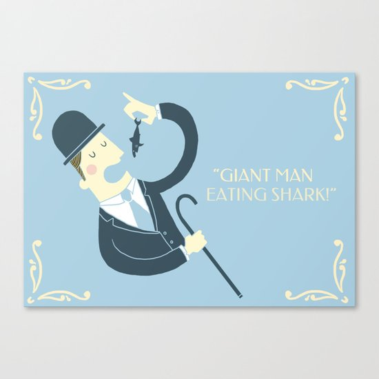 Giant man eating shark!! Canvas Print