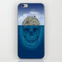 island iPhone & iPod Skins featuring Skull Island by Rachel Caldwell