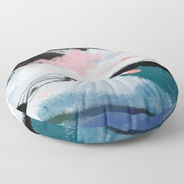 snow mountain Floor Pillow