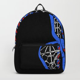 American Flag Colors Life Sport Lacrosse Backpack