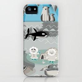 Arctic animals grey iPhone Case
