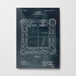 1903 - Game board (first Monopoly) Metal Print