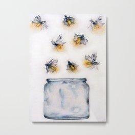 Fireflies Metal Print