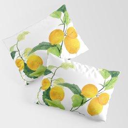 Lemon Branch Watercolor  Pillow Sham