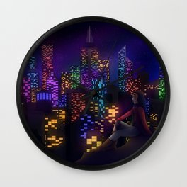 Midnight City Wall Clock