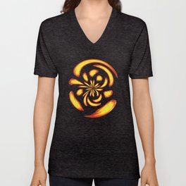 Dancing fire balls Unisex V-Neck