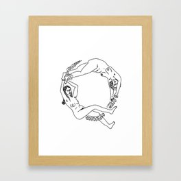 Circle of Ladies Framed Art Print