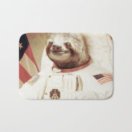 Sloth Astronaut Bath Mat