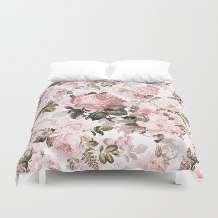 Vintage & Shabby Chic - Sepia Pink Roses Duvet Cover