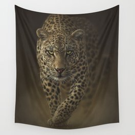 Leopard Prowling - Savage Wall Tapestry