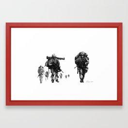 Light Fighters Framed Art Print