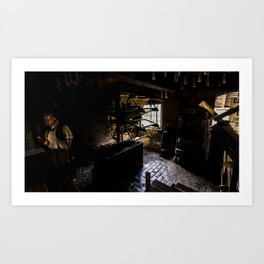 Candle maker Art Print
