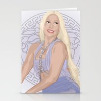 versace Stationery Cards featuring Versace Queen by AdamAether