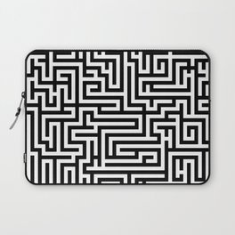 Black and white Labyrinth Laptop Sleeve