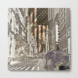 Elephant in New York Picture Metal Print