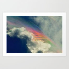 Rainbow in the Clouds Art Print