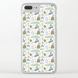 Mountain hiking Clear iPhone Case