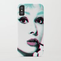 audrey hepburn iPhone & iPod Cases featuring AUDREY HEPBURN by Nuk_