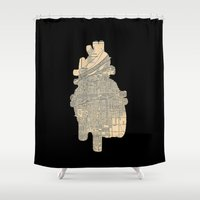 maps Shower Curtains featuring maps by yayanastasia
