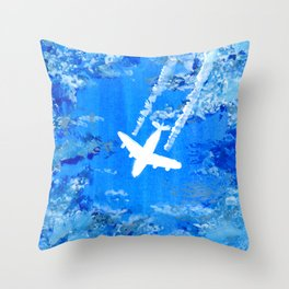 Fly High in the Blue Sky Throw Pillow