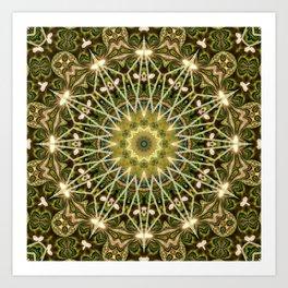 Geometric Forest Mandala Art Print