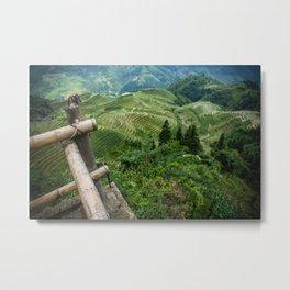 Guilin Rice Paddy Metal Print