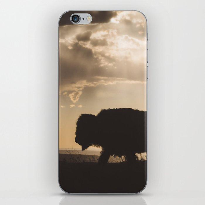 Bison in the Storm - Badlands National Park iPhone Skin
