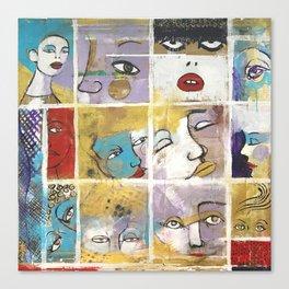 Sguardi di donne su di noi Canvas Print