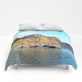 Cliffs of Perce Quebec Comforters
