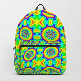 FRACTAL PATTERN RAINBOW-COLORED OP-ART Backpack