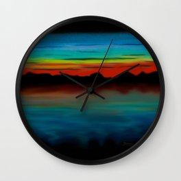 Electric Sunset Wall Clock