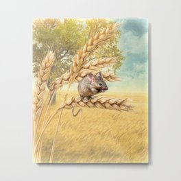 Little Field Mouse Metal Print