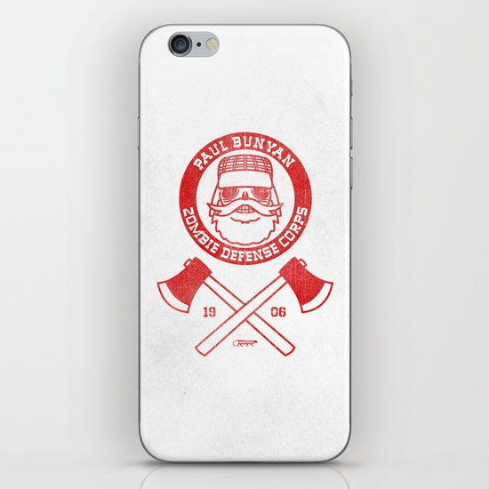 Paul Bunyan Zombie Defense Corps iPhone & iPod Skin