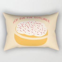 Ich bin ein Berliner (Krapfen) Rectangular Pillow