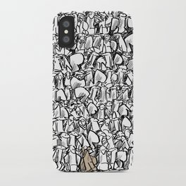 Alone in the crowd iPhone Case