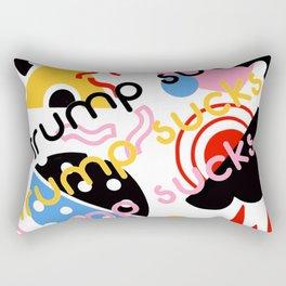 Trump sucks Memphis pop art Rectangular Pillow
