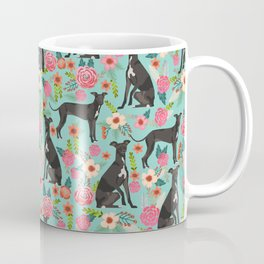 Italian Greyhound pet friendly pet portraits dog art custom dog breeds floral dog pattern Coffee Mug