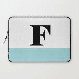 Monogram Letter F-Pantone-Limpet Shell Laptop Sleeve